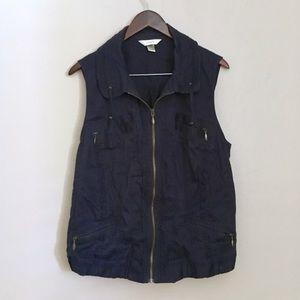 • cj banks navy utility vest •